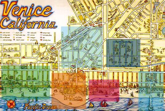 Venice - Venice beach map